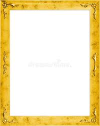 stylish page stylish golden frame with flowers stock illustration illustration