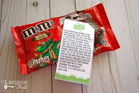 Just make the family game and attache m&ms and the christmas poem. M M S Christmas Poem The Benson Street