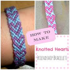 diy how to make knotted hearts friendship bracelets