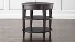round bedside table with drawer