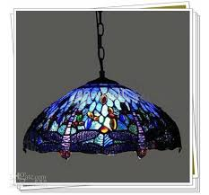 tiffany style dragonfly stained glass pendant light living room dining room chandelier kitchen hanging