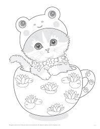 teacup kittens coloring book design originals kayomi harai 9781497202269 amazonsmile books
