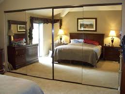 4 panel frameless mirror wardrobe doors in bronze finish