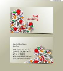 Paper Flower Business 4 Designer Paper Cut Flower Business Card Design Vector Material