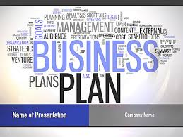 Planning A Presentation Template Business Plan Word Cloud Powerpoint Template Backgrounds