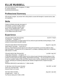 Medical Sales Representative Resume Interesting R B Medical Orthopedic Medical Sales Representative Resume Sample