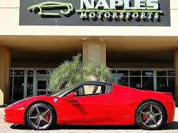 ferrari 458 black and red. 2014 ferrari 458 spider photo 5 naples fl 34104 factory painted black roof black and red