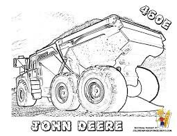 Small Picture Printable Coloring Pages John Deere Tractor Maelukecom