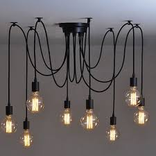 Awesome Hanging Bulb Chandelier Chic Light Hand Crafted Wood