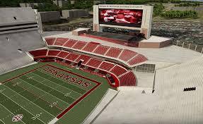 Razorback Football Stadium Seating Chart Reynolds Razorback Stadium Tickets In Fayetteville Arkansas