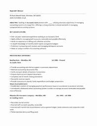 Accounts Payable Clerk Resume Examples Account Payable Resume Sample Elegant Accounting Clerk Resume Jk 21