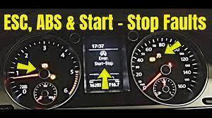 2010 Volkswagen Jetta Warning Lights Volkswagen With Multiple Faults Abs Esc Start Stop Electronic Park Brake Power Steering