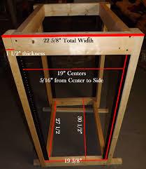 blueprint measurements for d i y server rack