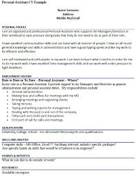 Personal Assistant Cv Example Resume Examples Cv Examples