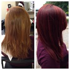 Socolor Red Color Chart Before After Using Matrix Socolor Violet Red Beautiful