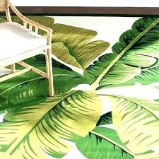 palm leaf rug palm rug leaf area rugs outdoor with leaves lily hunter green ivory indoor