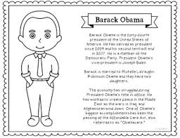 Small Picture President Barack Obama Coloring Page Craft or Poster with Mini