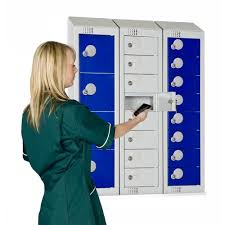 wall mounted personal effects lockers