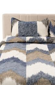 image for duvet cover queen size blue beige