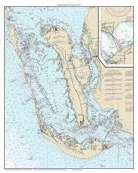 Sanibel Island Pine Island 2015 Nautical Map Florida
