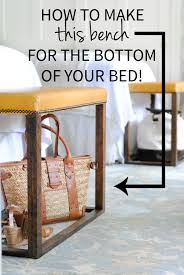 bottom of bed bench. Contemporary Bottom DIY Leather Bed Bench  How To Make Gorgeous Benches For The Foot  Of Intended Bottom Of Bed Bench O