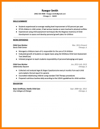 Resume Examples Child Care