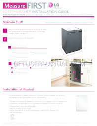 Dishwasher Purchase And Installation Lg Dishwasher Lds5540st Installation Manual Download Free