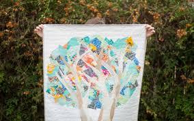 Windy Poplar Tree Quilt — simple, but vibrant. | Shannon Brinkley ... & Windy Poplar Tree Quilt — simple, but vibrant. Adamdwight.com