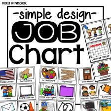 72 Extraordinary Classroom Job Chart For Preschool