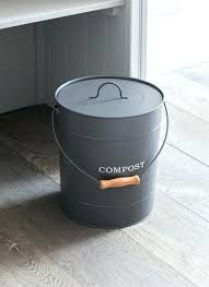 countertop compost bin table top compost bin a steel bucket in charcoal with wooden handle is countertop compost