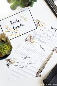 Printable Recipe Cards - Place Of My Taste