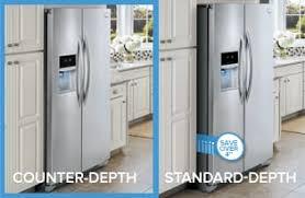 shallow depth refrigerator.  Depth CounterDepth Design Intended Shallow Depth Refrigerator