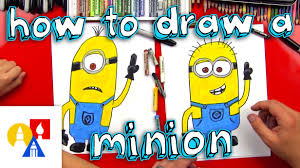 Art For Kids How To Draw A Minion Youtube