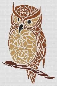 Owl Cross Stitch Pattern Mesmerizing White Willow Stitching Tribal Owl Cross Stitch Pattern 48Stitch