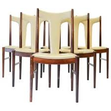 six rosewood dining chairs in leather by arne vodder for sibast of denmark 1stdibs