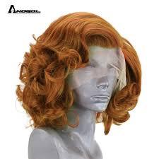 "Anogol Brown 12"" Glueless <b>High Temperature</b> Fiber Synthetic <b>Lace</b> ..."