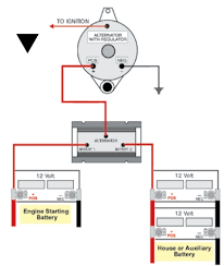marine 2 battery wiring diagram images 200 amp relay high current the one alternator two battery isolator a selector