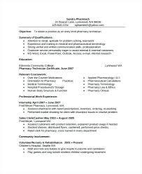 Pharmacy Assistant Resume Sample Sample Of Pharmacist Resume