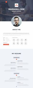 Template Nt Profile Premium Cv Resume Wordpress Theme Navy Themes