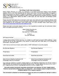 Sps Non Obligor Credit Check Authorization Fill Online Printable
