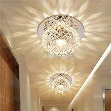 crystal ceiling light led pendant lamp flush mount