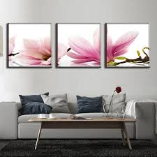 3 pcs set flower canvas prints modern wall paintings with frame canvas wall art picture on framed canvas wall prints with 3 pcs set flower canvas prints modern wall paintings with frame