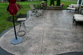 stamped concrete patio with fireplace. VIEW IN GALLERY Patio Floor Design Ideas Stamped Concrete Designs For Patterns Flooring Options With Stairs Fireplace