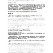 20 Resume Template Objective Summary Wwwauto Albuminfo
