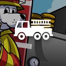 sparky the fire dog robot. firetrucks sparky the fire dog robot