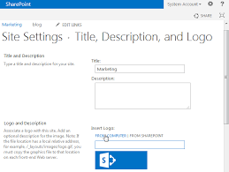 sharepoint powers change site logo