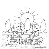 Small Picture Picnic Coloring Page All Kids Network