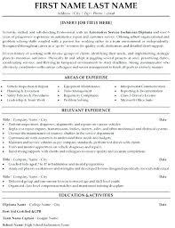 Service Tech Resume Automotive Technician Resumes Automotive Technician Resume