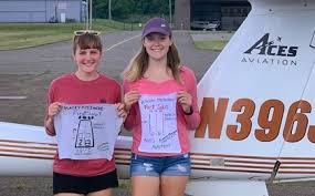 Sisters solo on same day, at same airport - AOPA