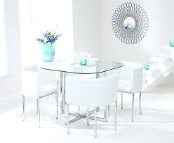 round glass dining table with white chairs glass dining table white chairs